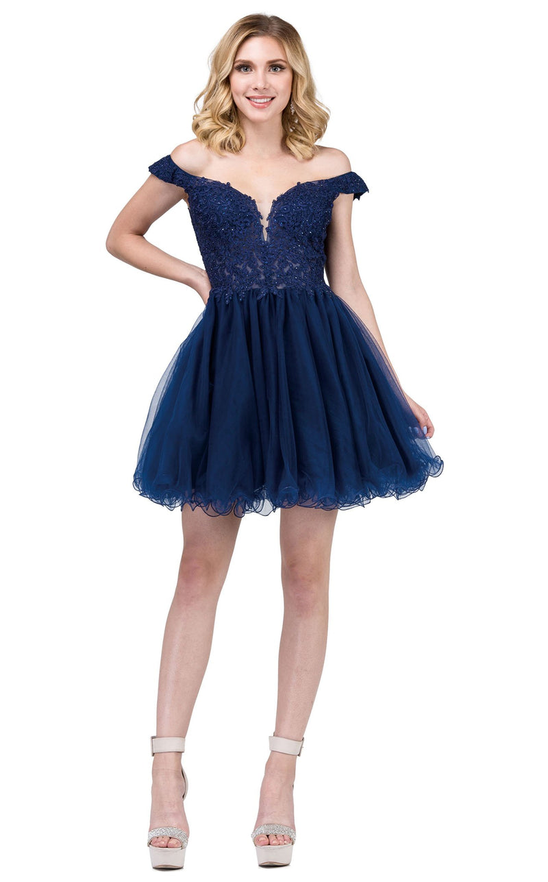 Dancing Queen 2248 Dress Navy