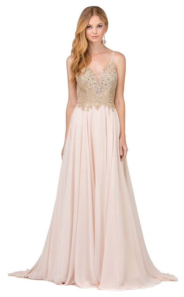 Dancing Queen 2259 Dress Champagne