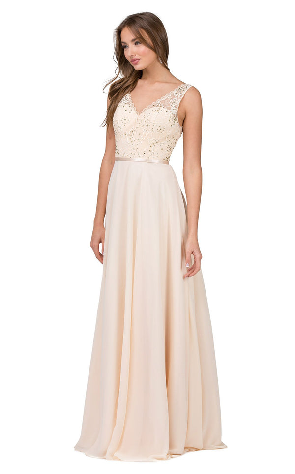 Dancing Queen 2267 Dress Champagne