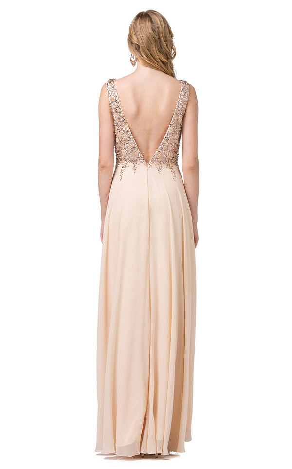 Dancing Queen 2312 Dress Champagne