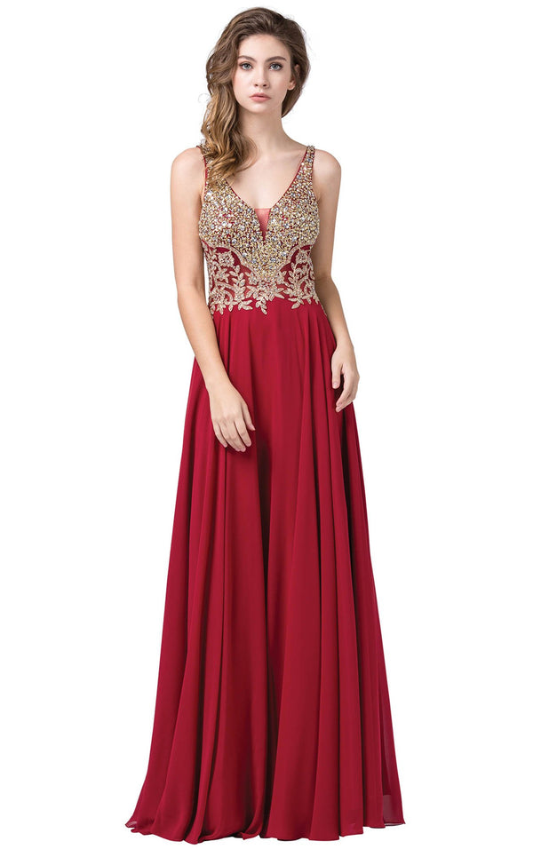 Dancing Queen 2494 Dress Burgundy
