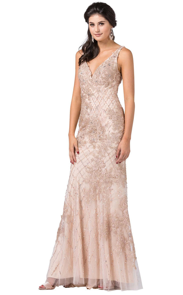 Dancing Queen 2515 Dress Champagne