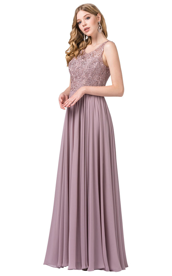 Dancing Queen 2553 Dress Mocha
