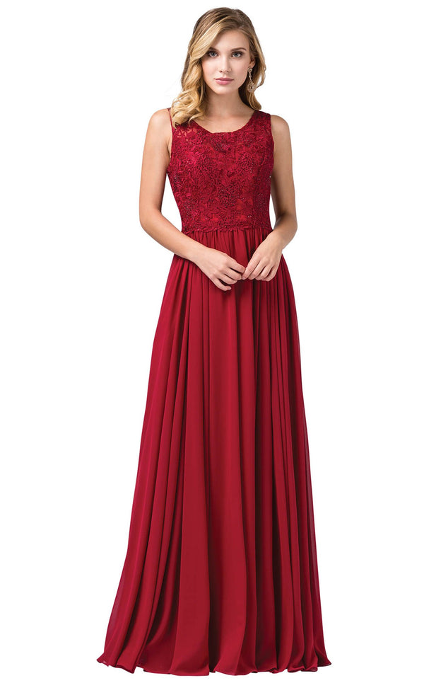 Dancing Queen 2553 Dress Burgundy