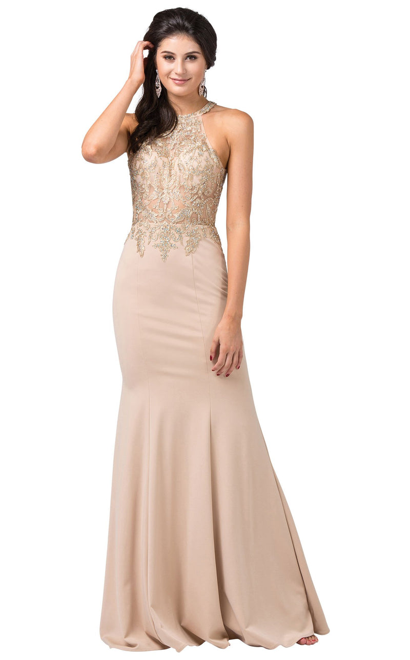 Dancing Queen 2555 Dress Champagne