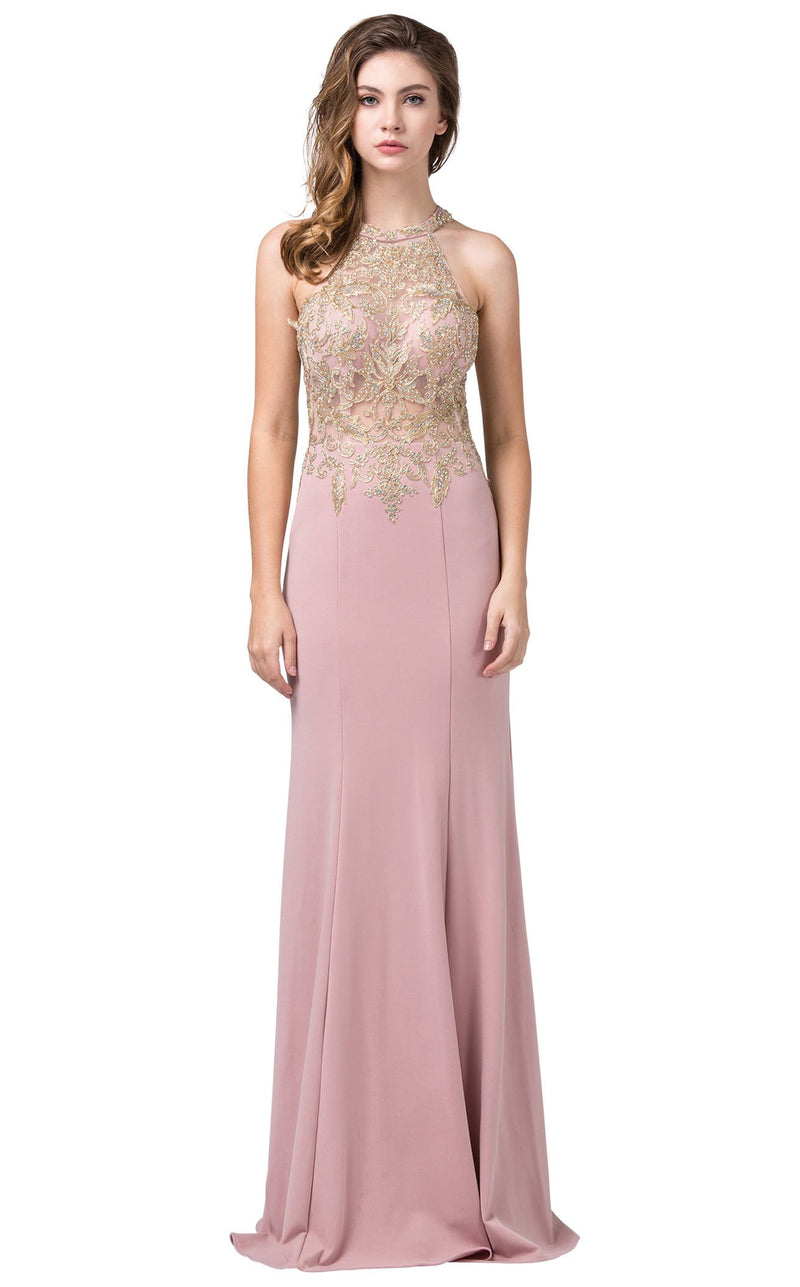 Dancing Queen 2555 Dress Dusty-Pink