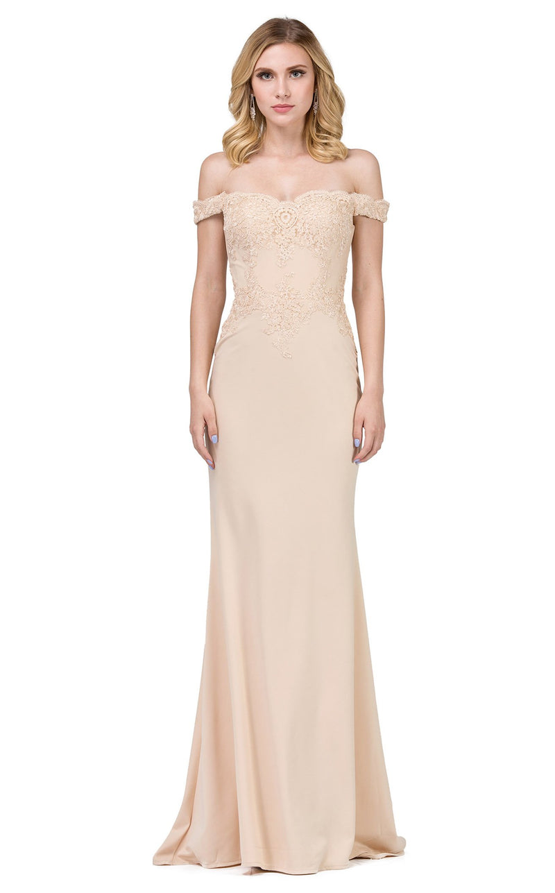 Dancing Queen 2562 Dress Champagne