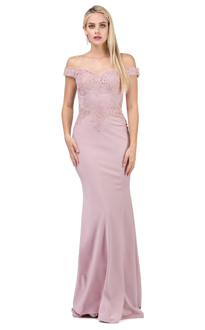 Dancing Queen 2562 Dress Dusty-Pink
