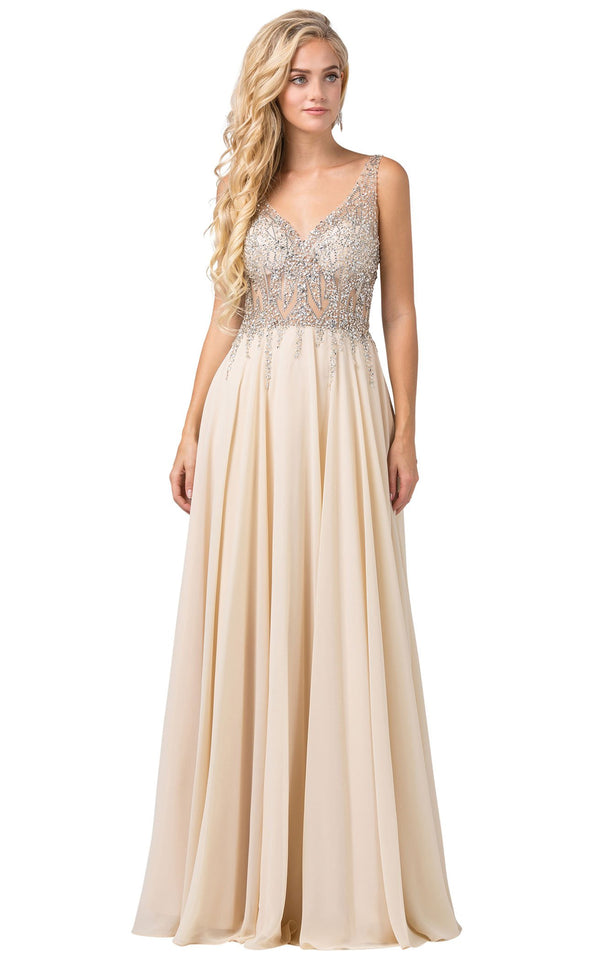 Dancing Queen 2570 Dress Champagne
