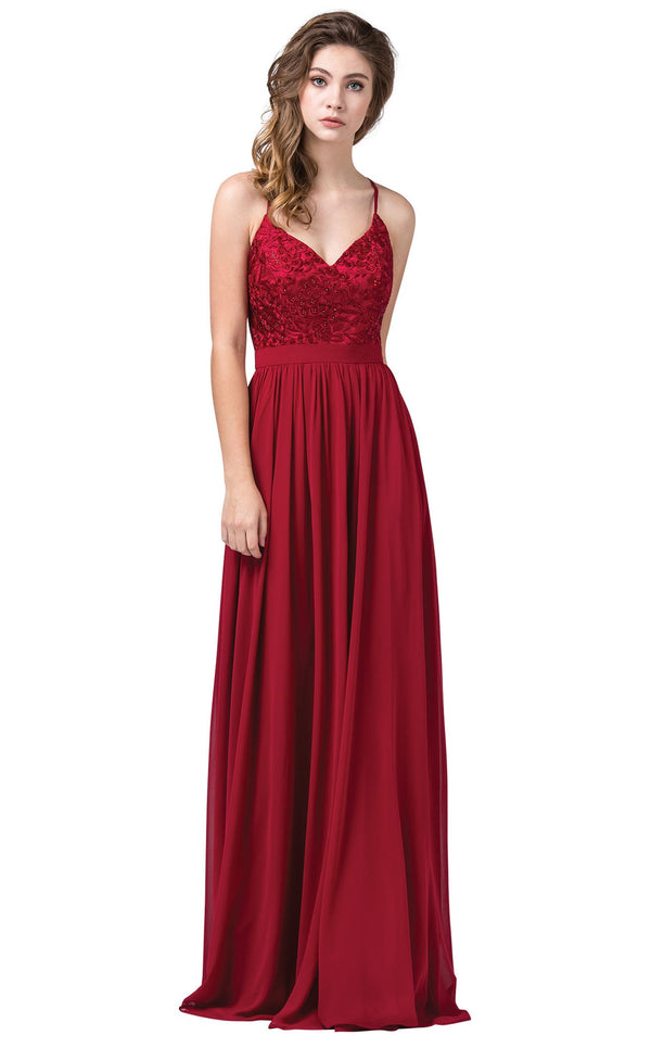 Dancing Queen 2571 Dress Burgundy