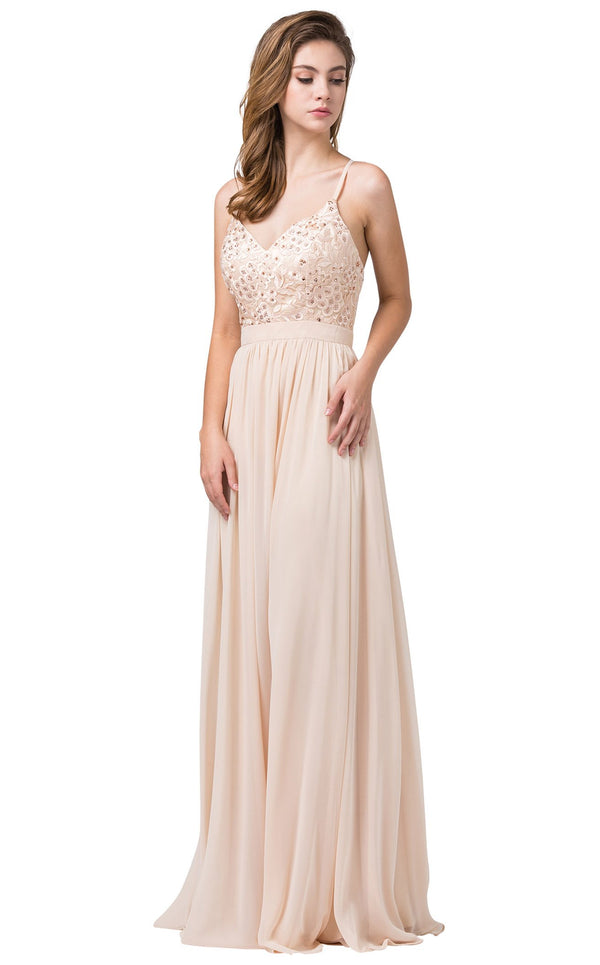 Dancing Queen 2571 Dress Champagne