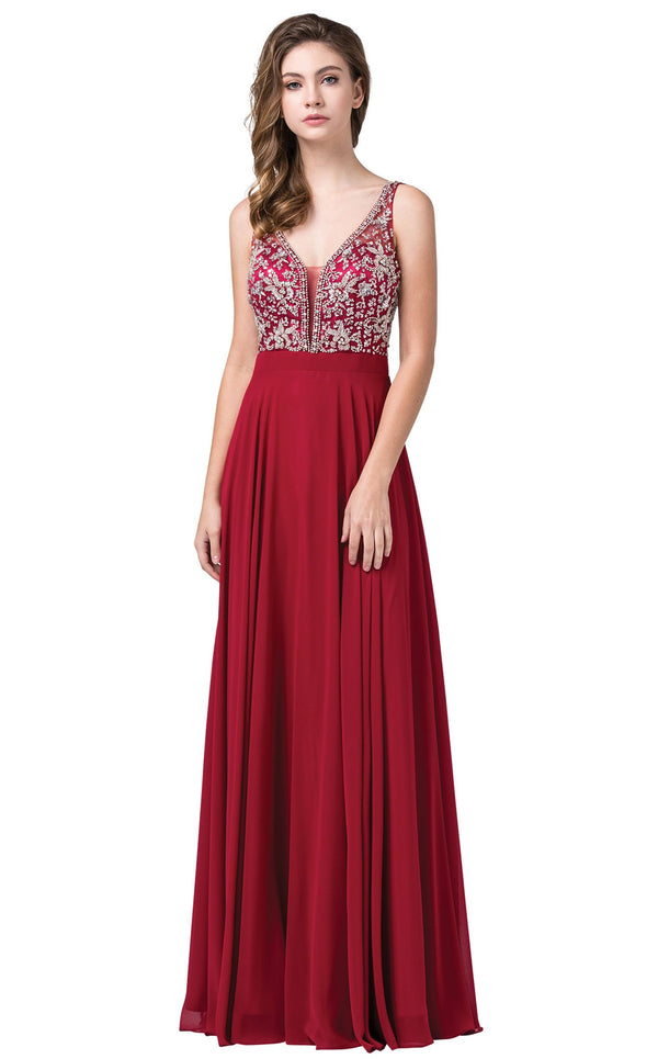 Dancing Queen 2669 Dress Burgundy