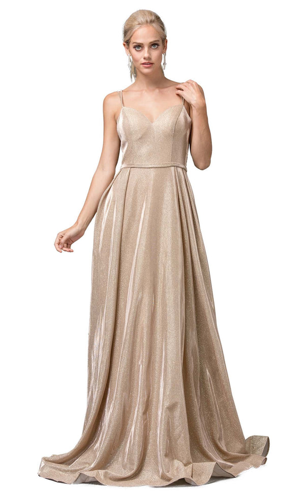 Dancing Queen 2720 Dress Champagne