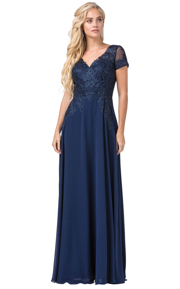 Dancing Queen 2757 Dress Navy
