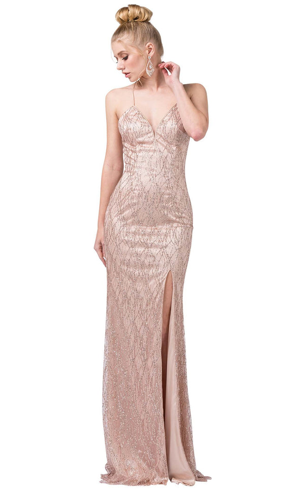 Dancing Queen 2817 Dress Rose-Gold