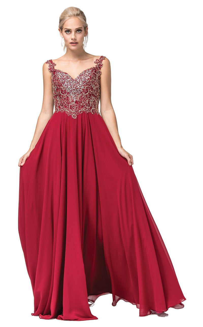 Dancing Queen 2818 Dress Burgundy