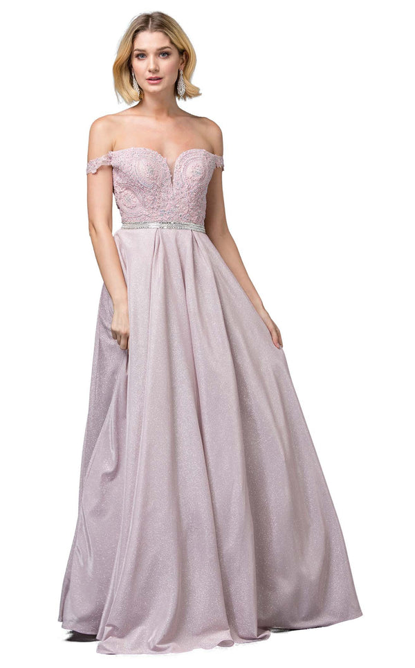 Dancing Queen 2820 Dress Dusty-Pink