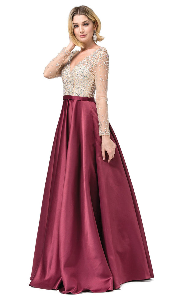 Dancing Queen 2840 Dress Burgundy