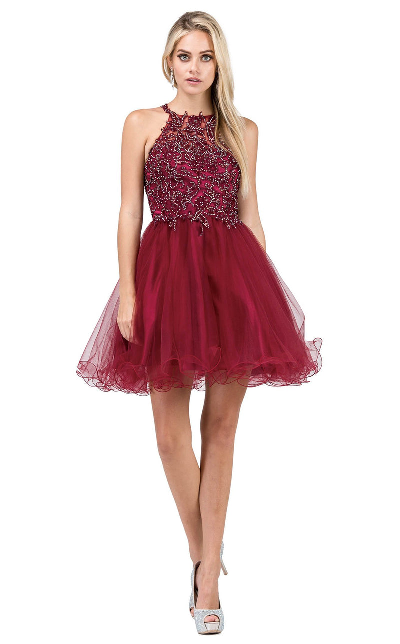 Dancing Queen 3004 Dress Burgundy