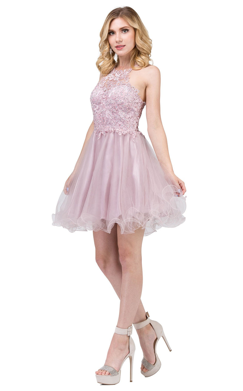 Dancing Queen 3004 Dress Dusty-Pink