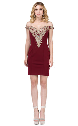 Dancing Queen 3017 Dress Burgundy