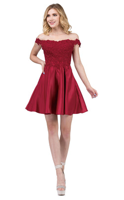 Dancing Queen 3029 Dress Burgundy