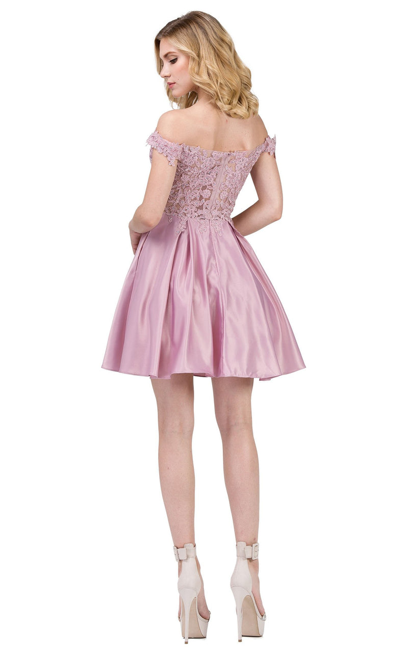 Dancing Queen 3029 Dress Dusty-Pink