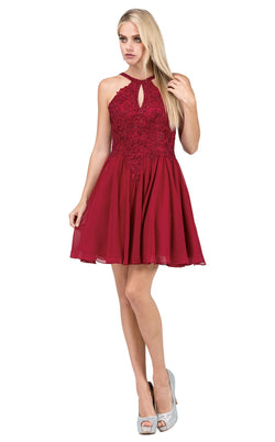 Dancing Queen 3043 Dress Burgundy