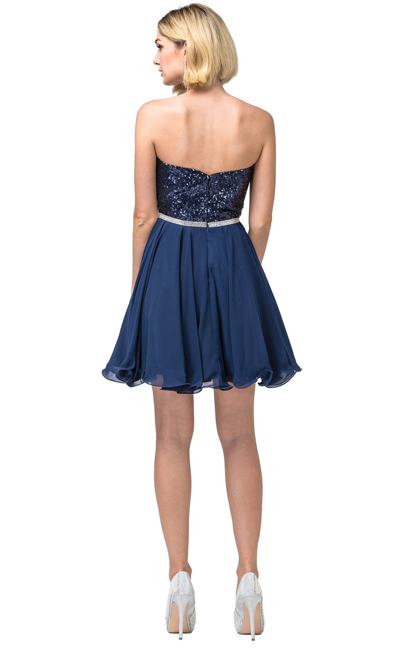 Dancing Queen 3045 Dress Navy