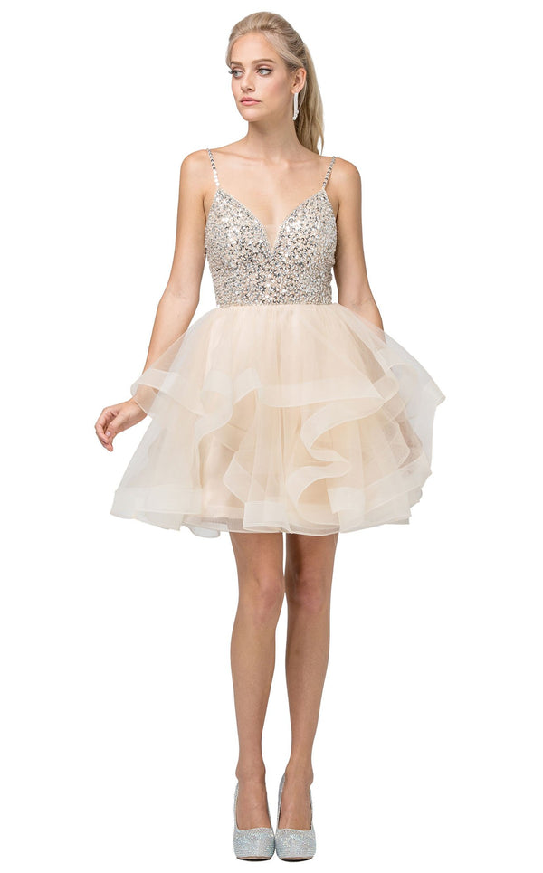 Dancing Queen 3050 Dress Champagne