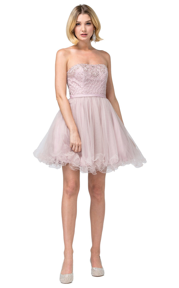 Dancing Queen 3056 Dress Dusty-Pink