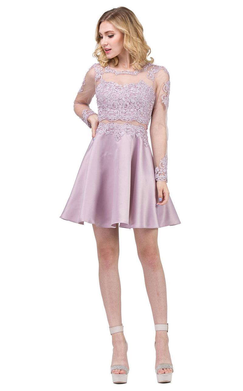 Dancing Queen 3094 Dress Dusty-Pink