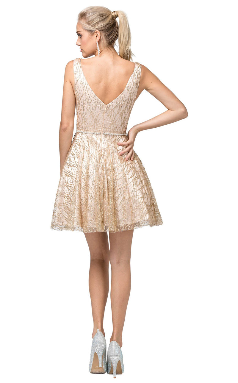 Dancing Queen 3103 Dress Gold