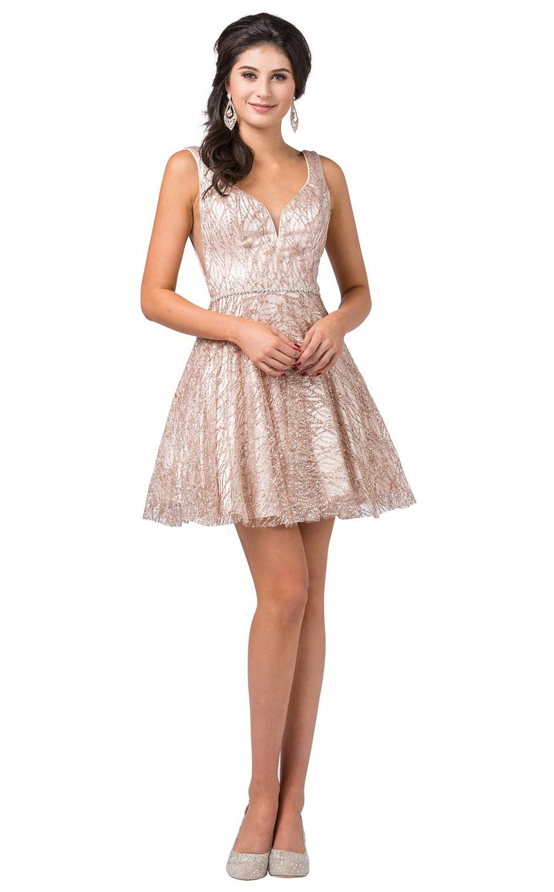 Dancing Queen 3103 Dress Rose-Gold
