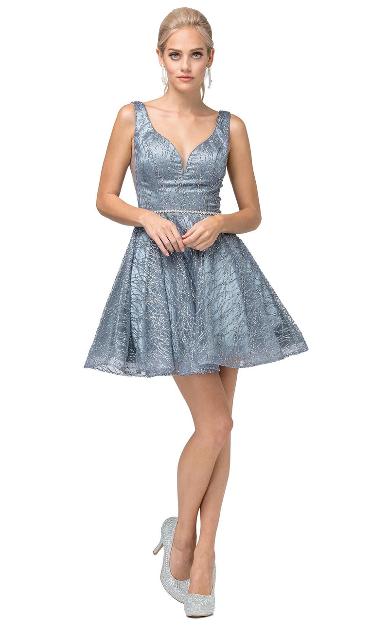 Dancing Queen 3103 Dress Steel-Blue
