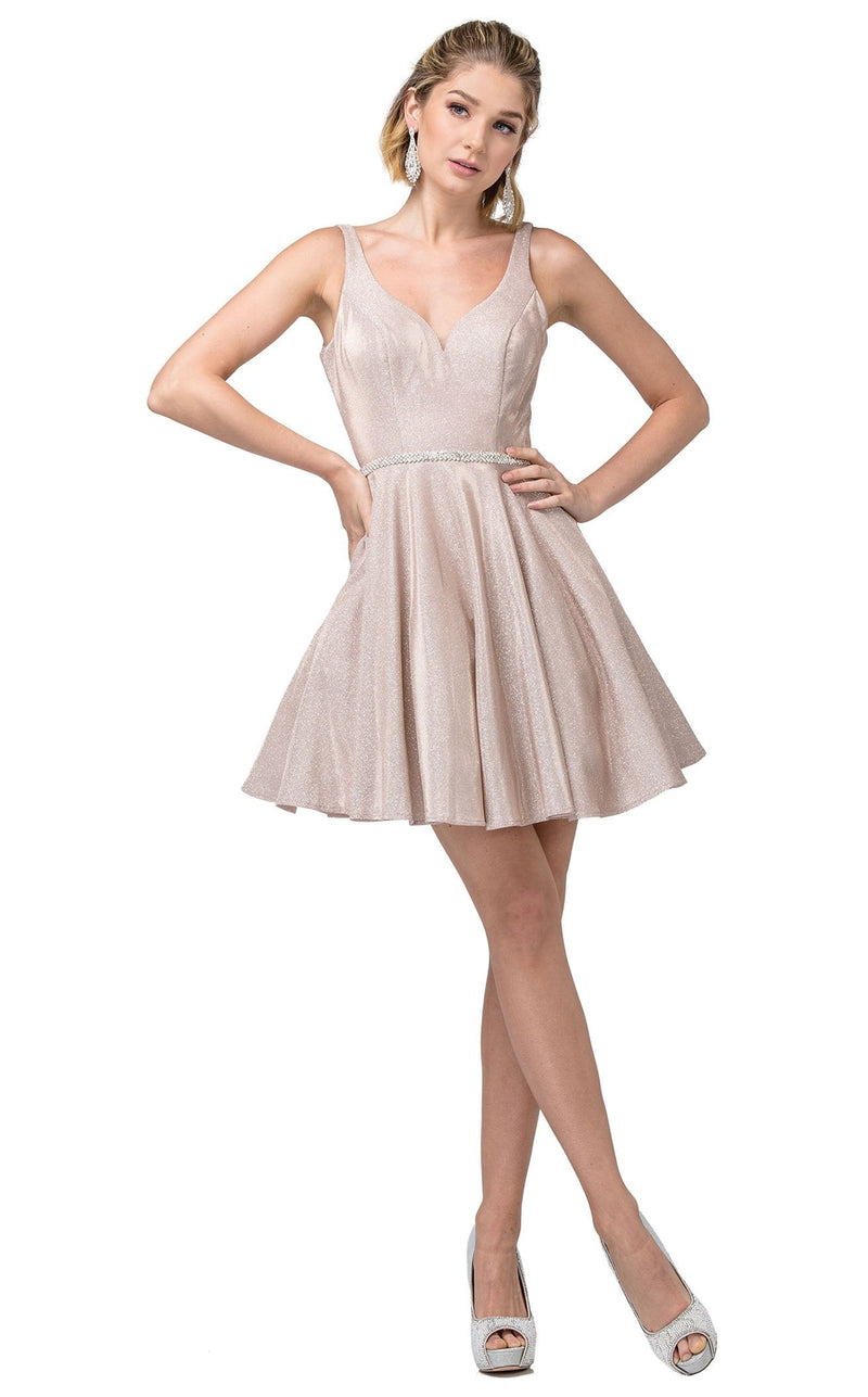 Dancing Queen 3142 Dress Rose-Gold