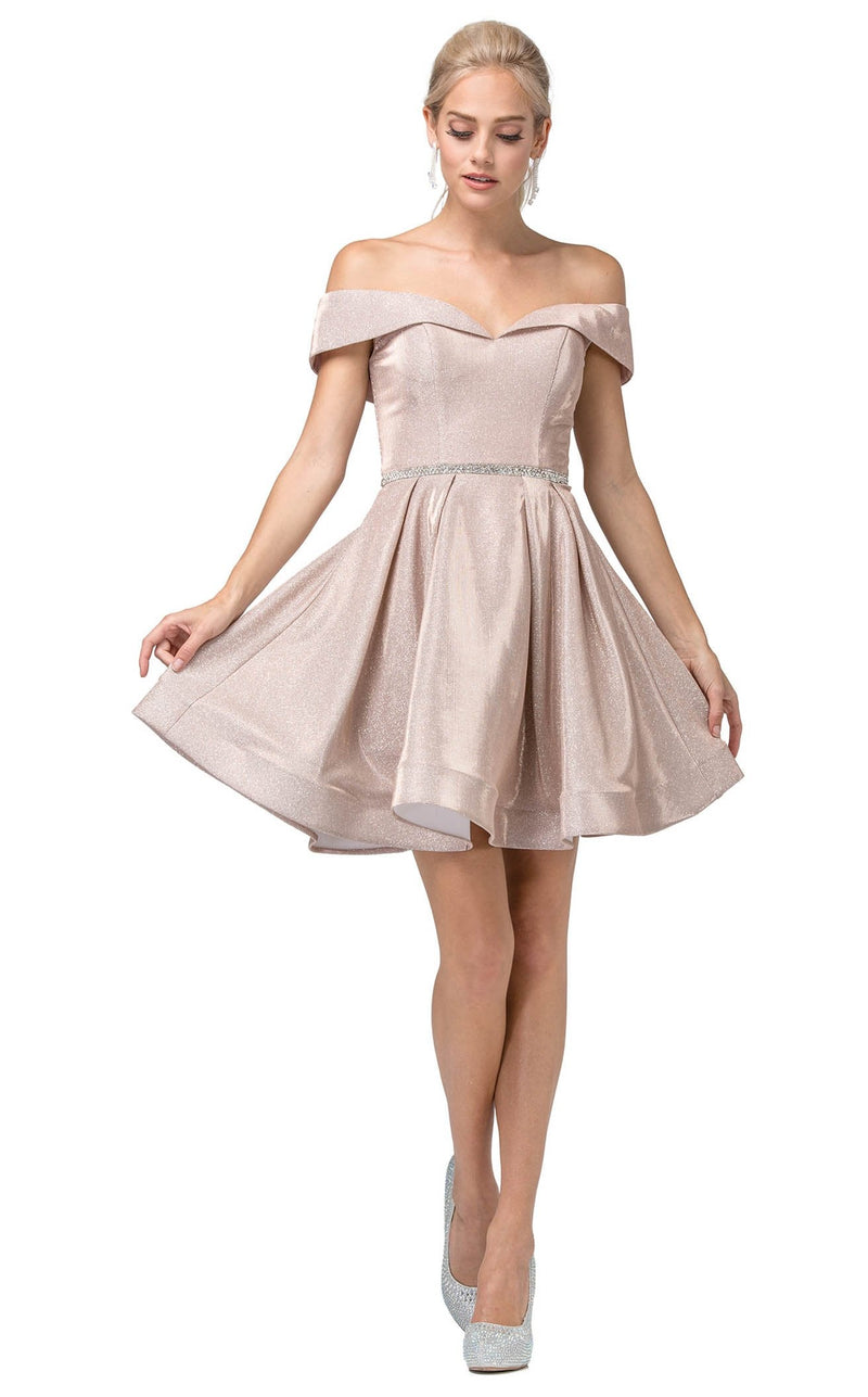 Dancing Queen 3147 Dress Rose-Gold