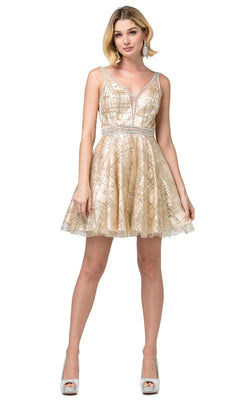 Dancing Queen 3200 Dress Gold