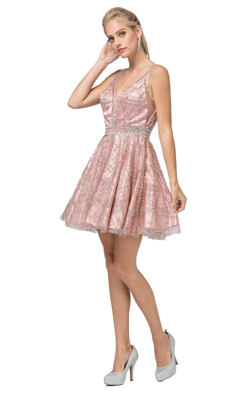 Dancing Queen 3200 Dress Rose-Gold