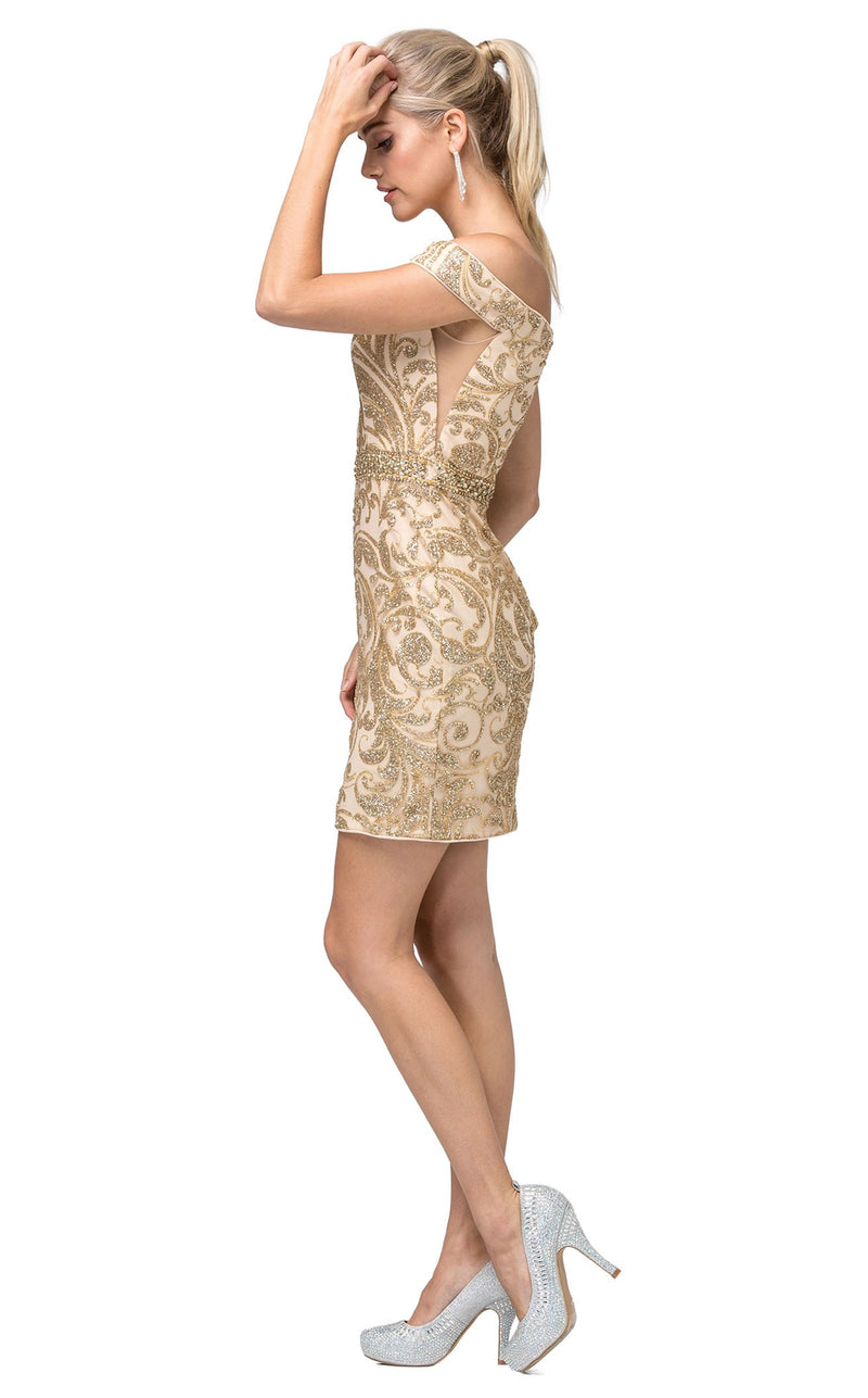 Dancing Queen 3218 Dress Gold