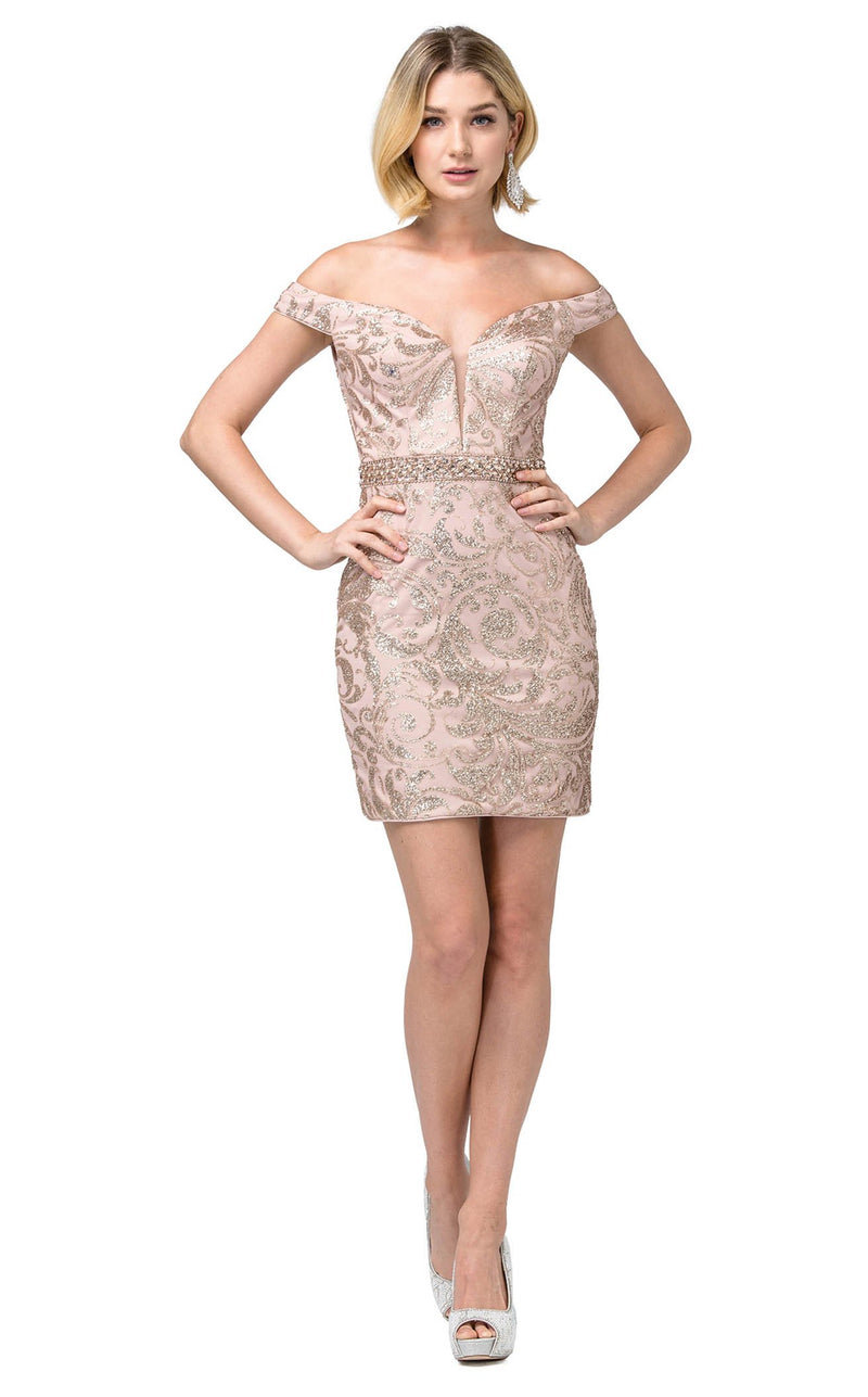 Dancing Queen 3218 Dress Rose-Gold