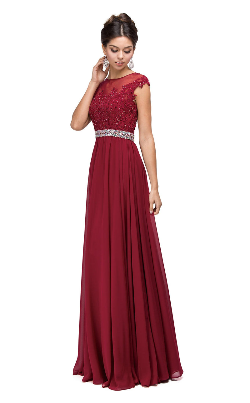 Dancing Queen 9400 Dress Burgundy