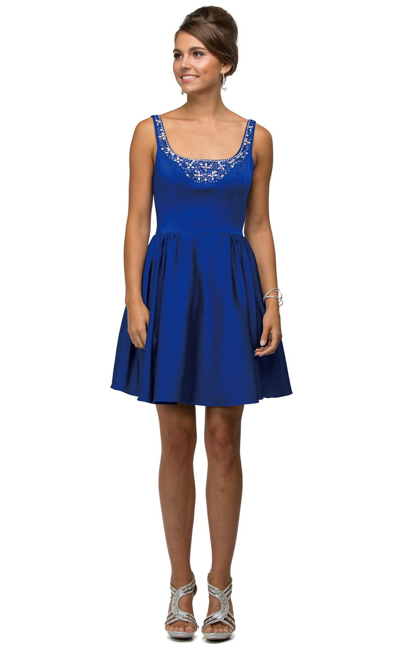 Dancing Queen 9493 Dress Royal-Blue
