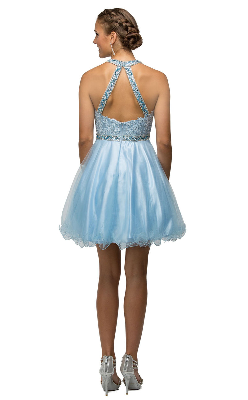 Dancing Queen 9534 Dress Periwinkle