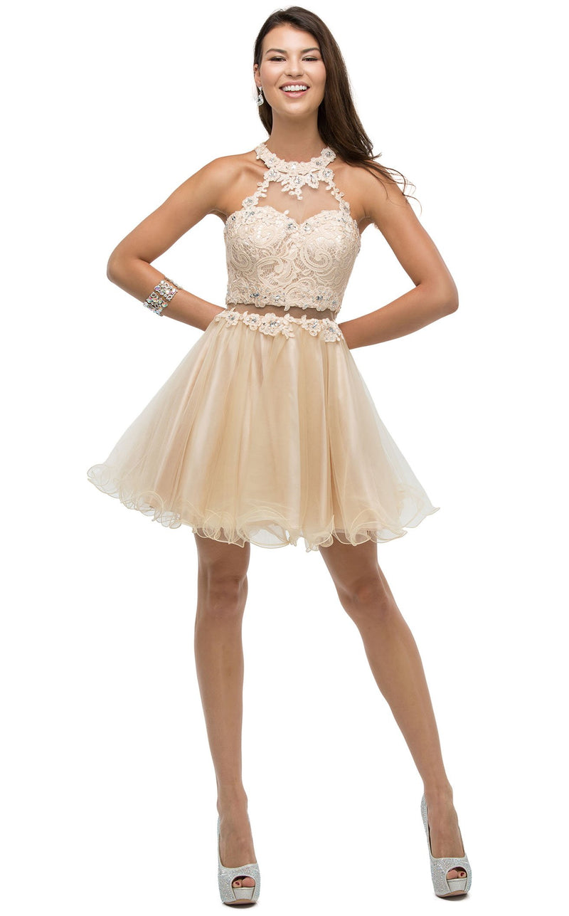 Dancing Queen 9631 Dress Champagne