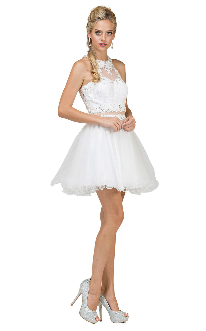 Dancing Queen 9631 Dress Off-White