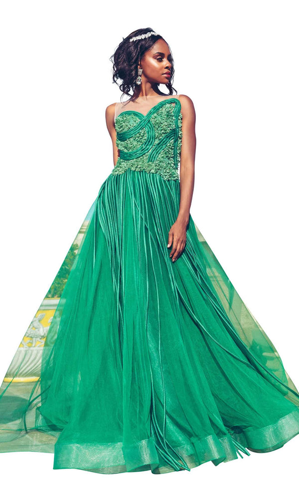 MNM Couture G1013 Emerald-Green