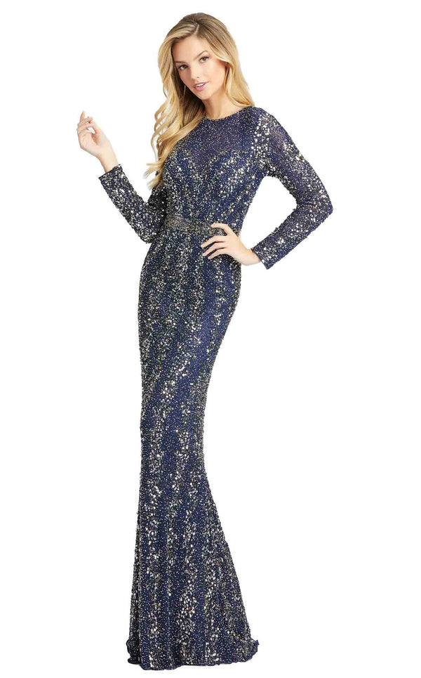 Mac Duggal 5016D Dress Midnight Blue