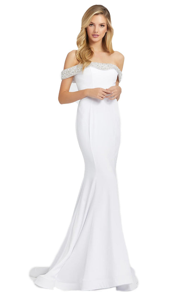 Mac Duggal 67155D Dress White