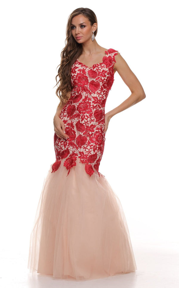 Nox Anabel 3121 Dress Red-Nude